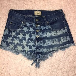 Celebrity Pink American Flag Jean Shorts